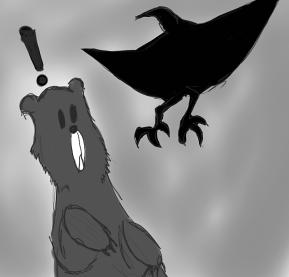 bird eating me (2)